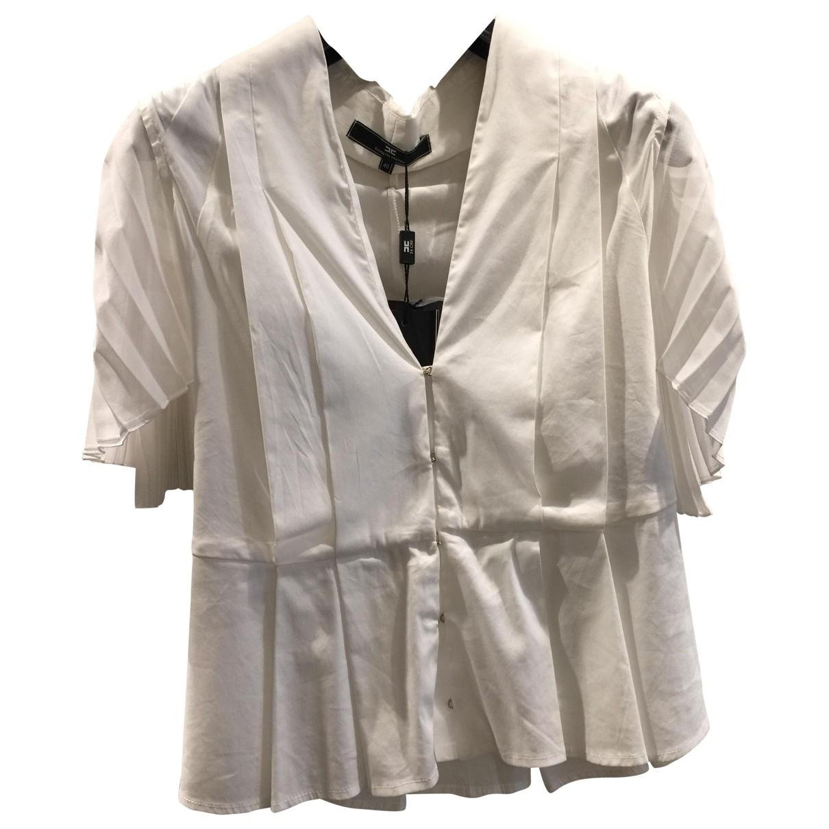 Elisabetta Franchi - Top   pour femme en coton - blanc