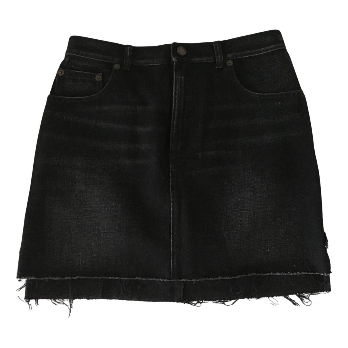 Saint Laurent N Black Cotton skirt for Women 36 IT