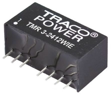 TRACOPOWER TMR 3HI 3W Isolated DC-DC Converter Through Hole, Voltage in 18 → 36 V dc, Voltage out 15V dc