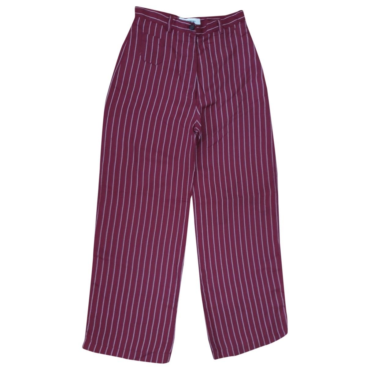 John Richmond \N Burgundy Trousers for Women 42 IT