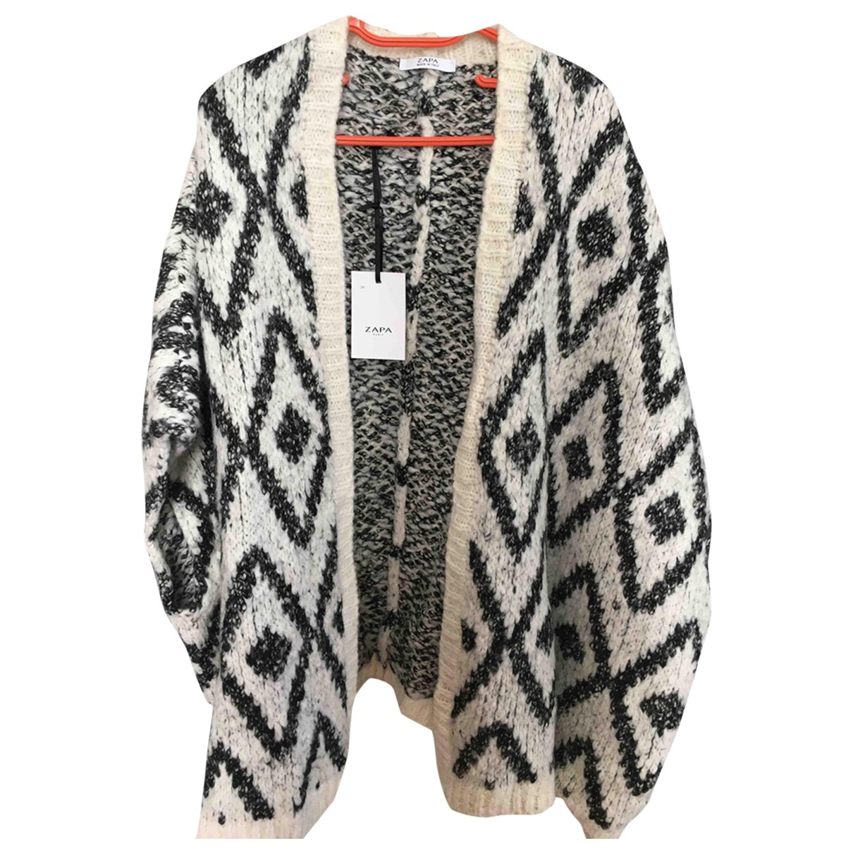 Zapa - Pull   pour femme en laine - ecru
