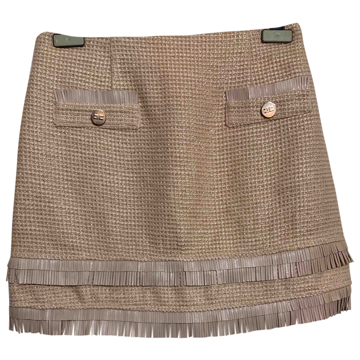 Elisabetta Franchi N Pink Tweed skirt for Women 42 IT