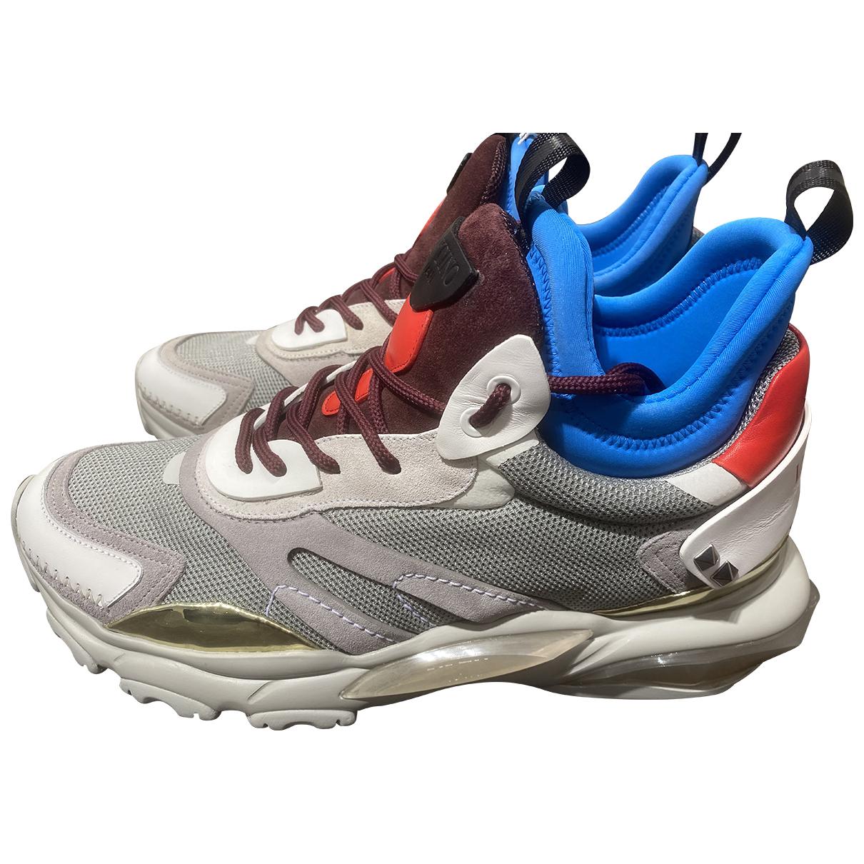 Valentino Garavani \N Sneakers in  Grau Leder