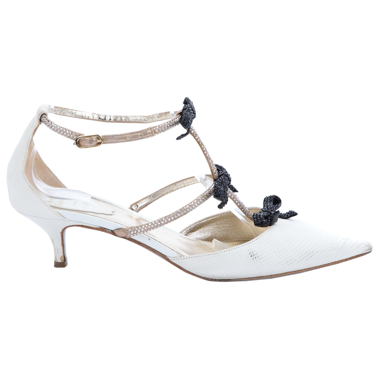 Rene Caovilla - Escarpins   pour femme en cuir - blanc