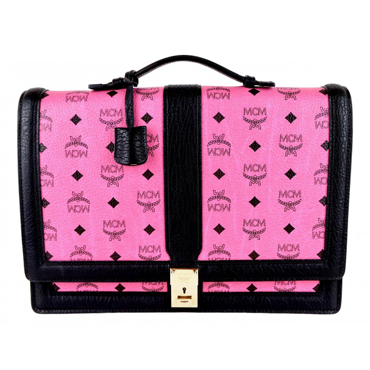 Mcm \N Handtasche in  Rosa Leder