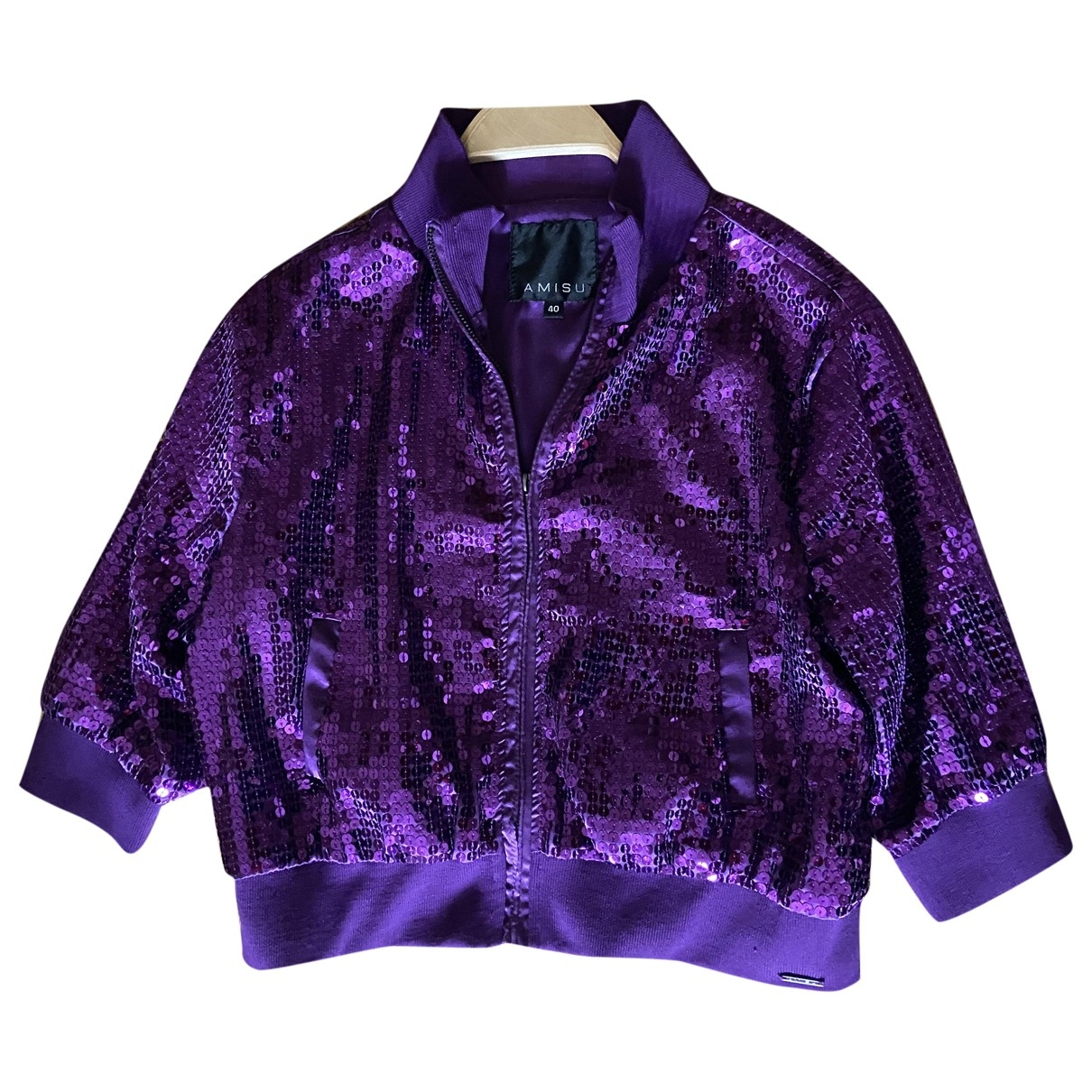 Non Signé / Unsigned \N Purple Glitter jacket for Women 40 FR