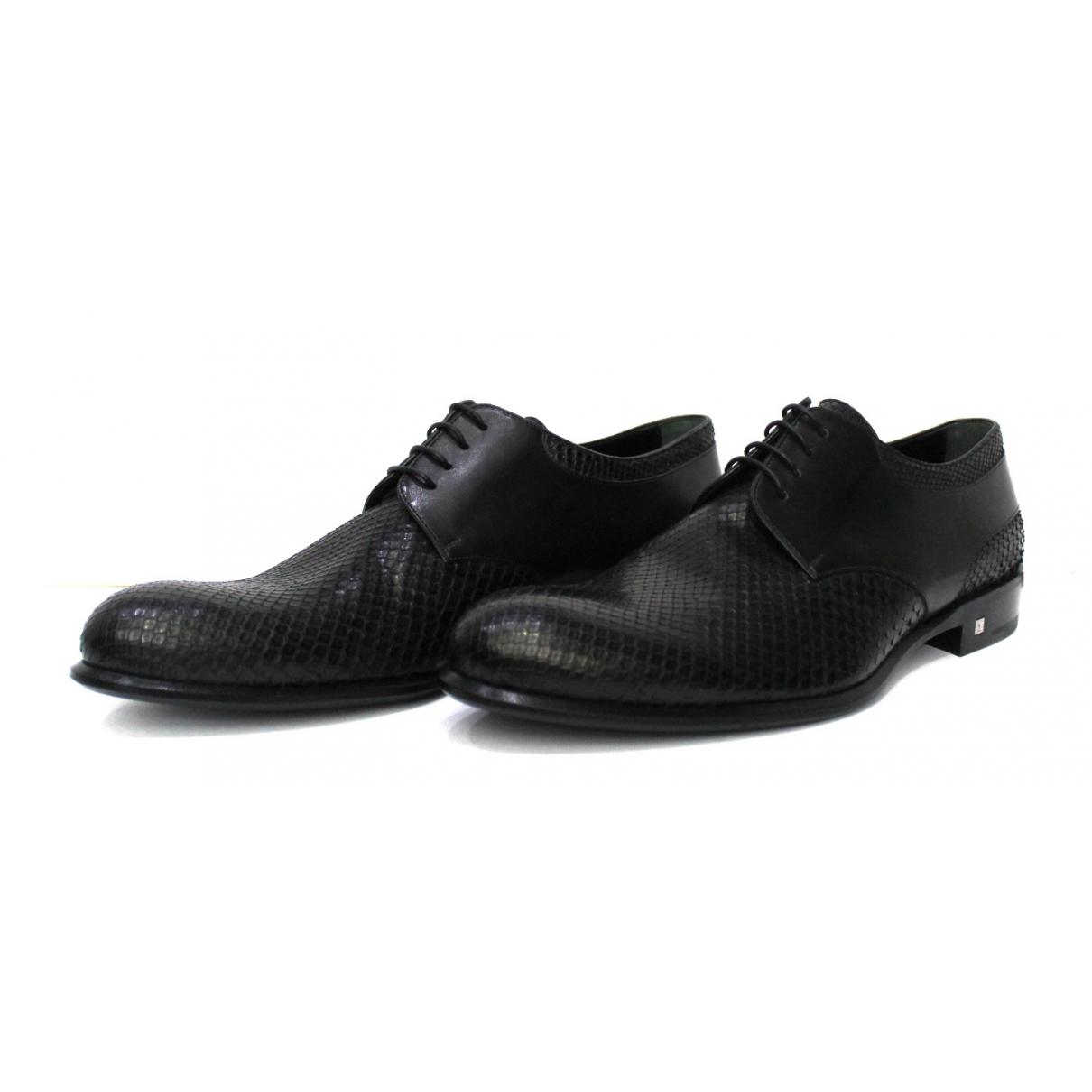 Louis Vuitton \N Black Exotic leathers Lace ups for Men 42 EU