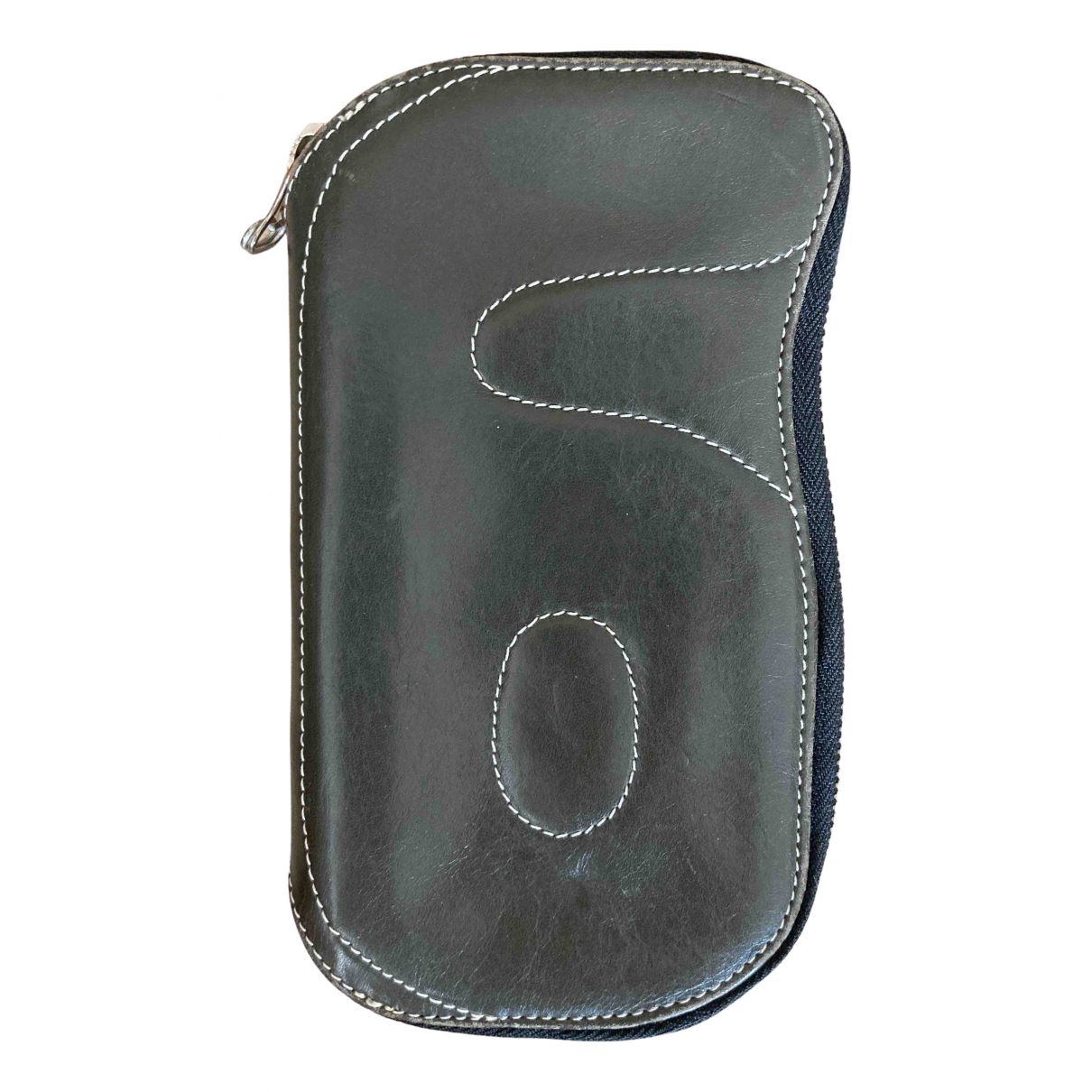 Mm6 - Portefeuille   pour femme en cuir - kaki