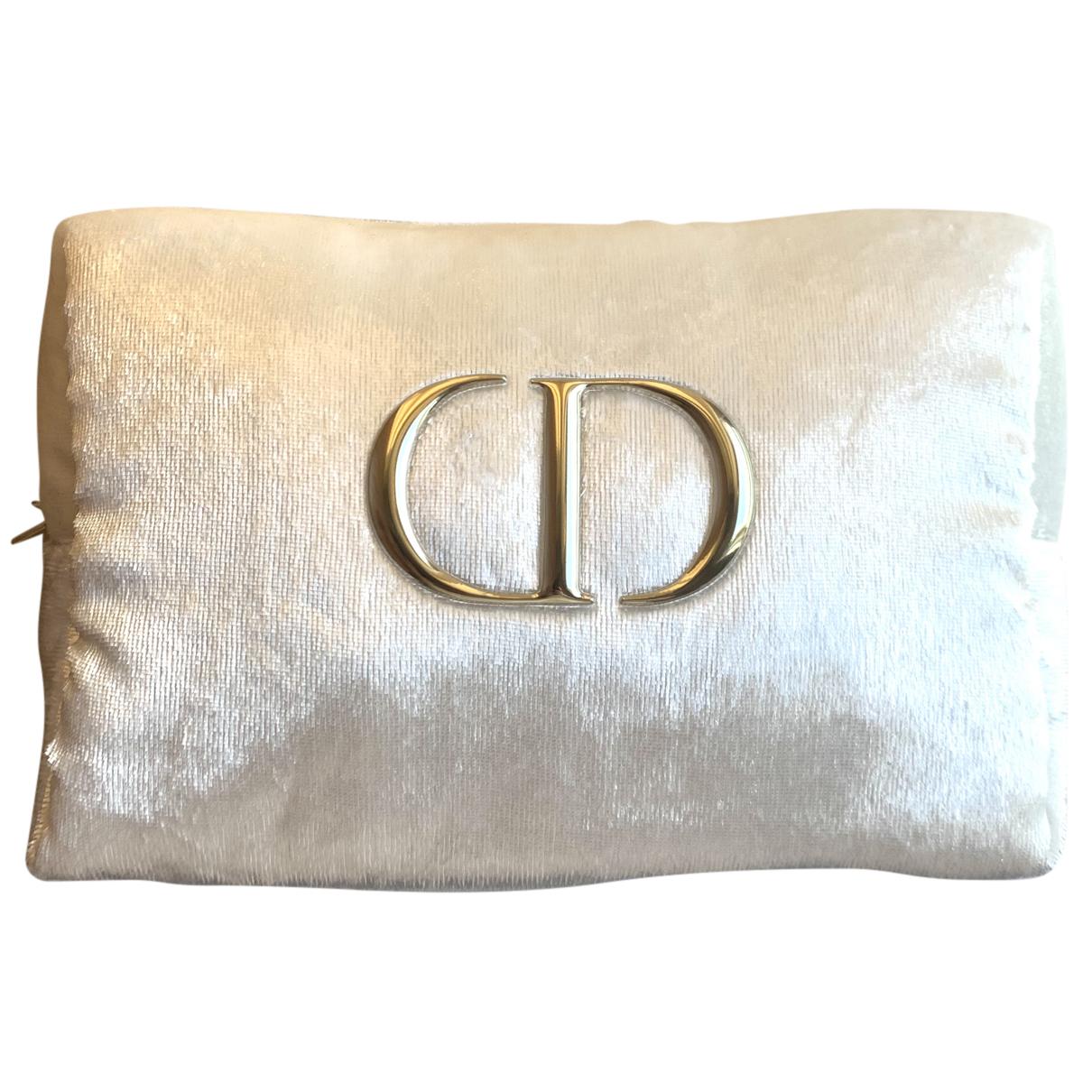 Dior - Pochette   pour femme en velours - blanc