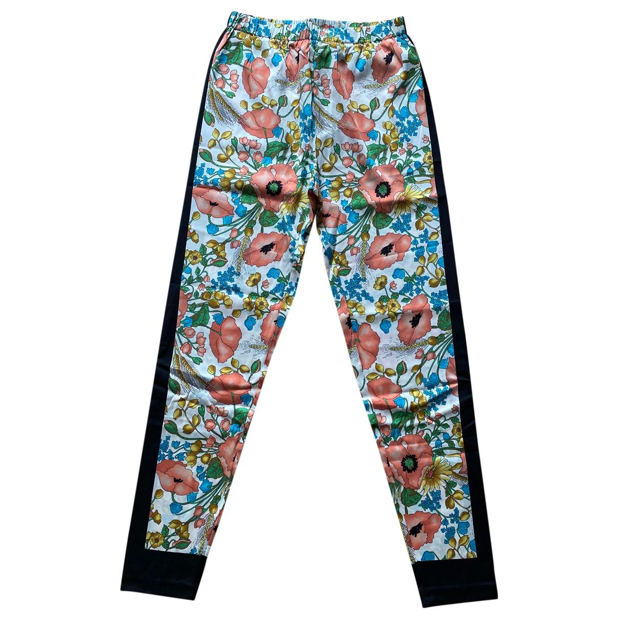 Gucci \N Multicolour Silk Trousers for Women M International