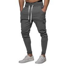 Guys Side Flap Pocket Drawstring Waist Sweatpants