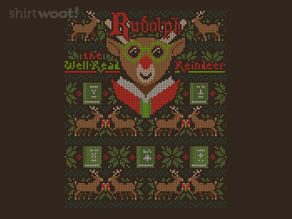 Reading Reindeer Sweater T Shirt