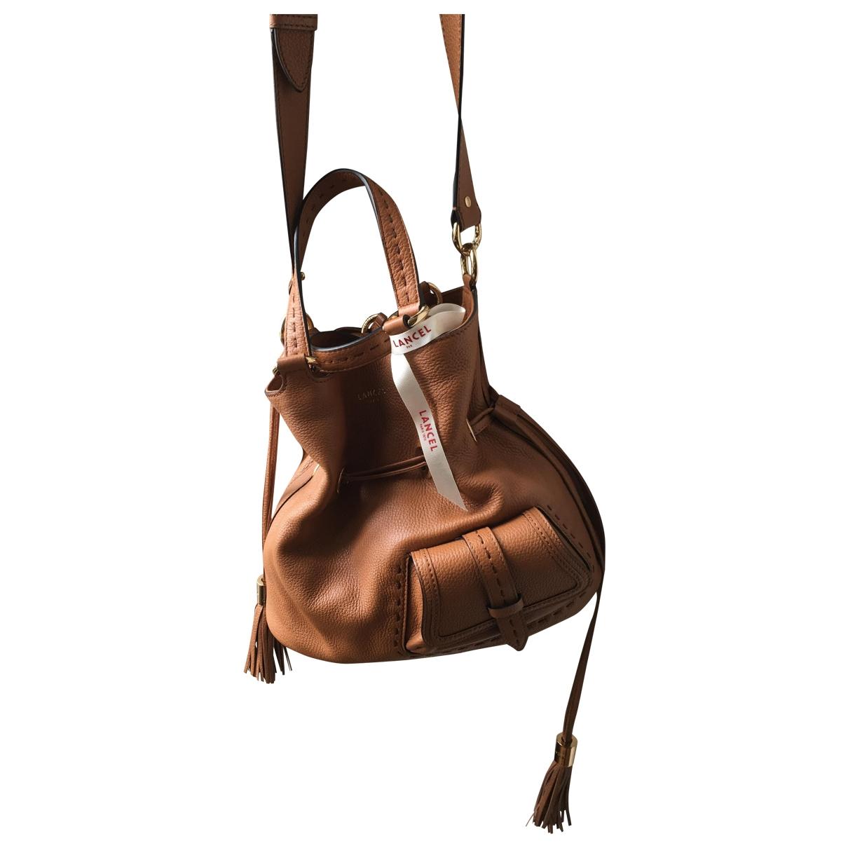 Lancel 1er Flirt Beige Leather handbag for Women \N