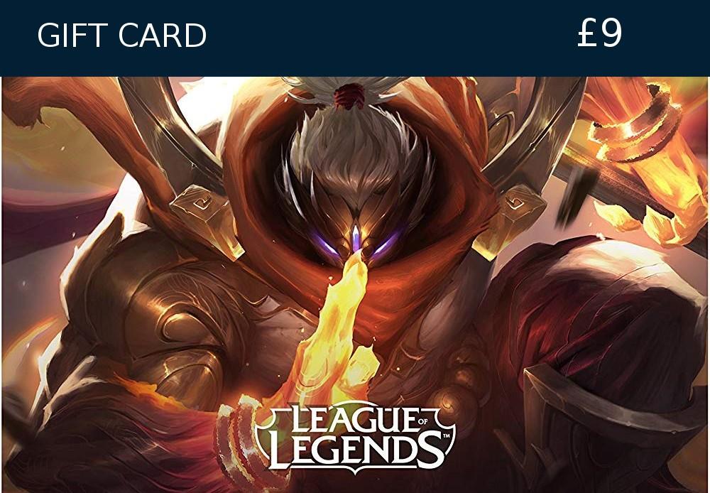 League of Legends 9 GBP Prepaid RP Card EUW & EUNE