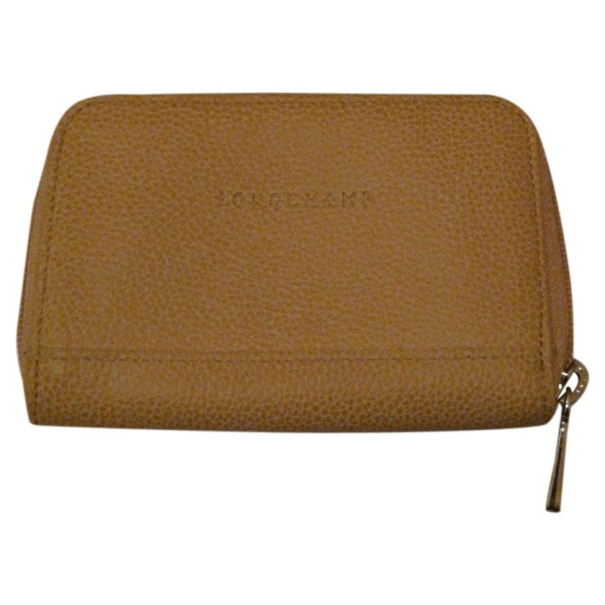 Longchamp \N Beige Leather Purses, wallet & cases for Women \N