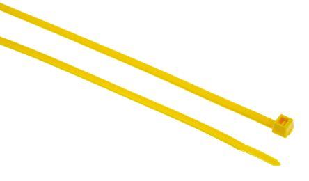 HellermannTyton , VB80 Series Yellow Nylon Cable Tie, 390mm x 4.7 mm