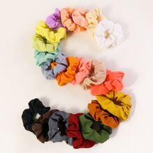 20pcs Solid Simple Scrunchie