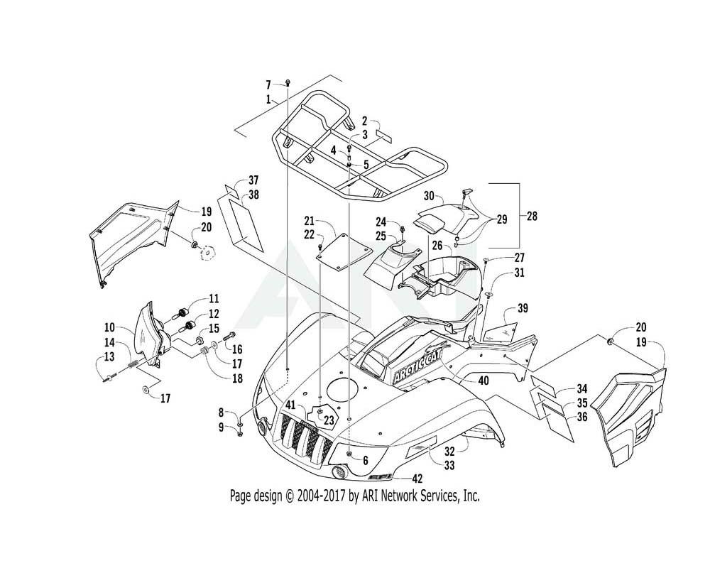 Arctic Cat OEM 5506-056 Rack Front Assembly (B Body Vp) | (Inc. 2)