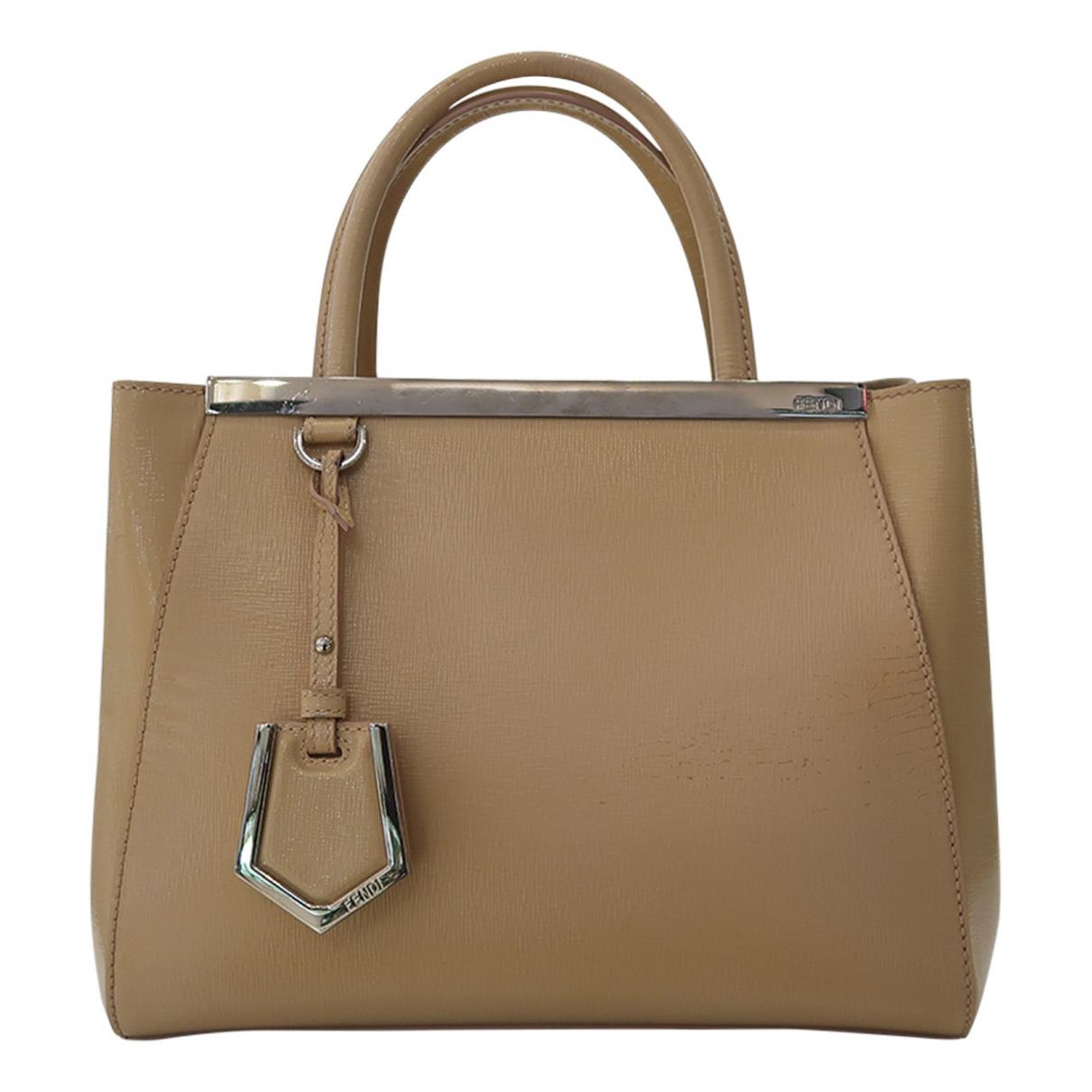 Fendi 2Jours Handtasche in  Beige Lackleder