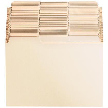 Oxford Guides de fiches avec onglets vierges, 6 po x 4 po, Manille, paquet de 100 - 6