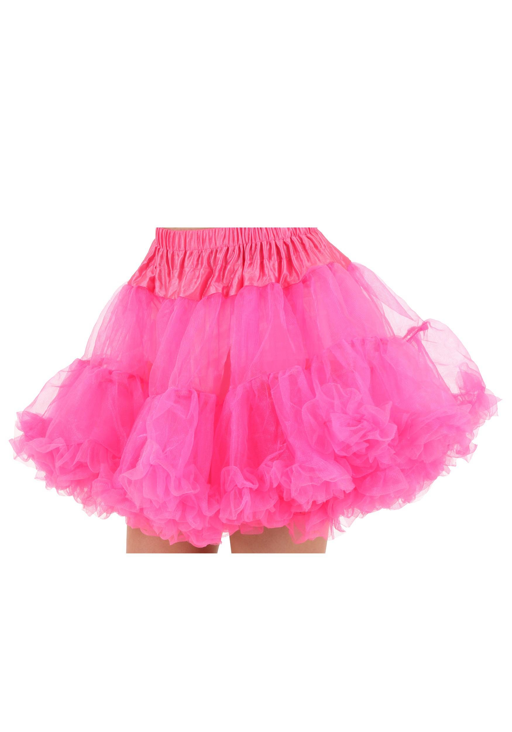 Plus Size Hot Pink Petticoat