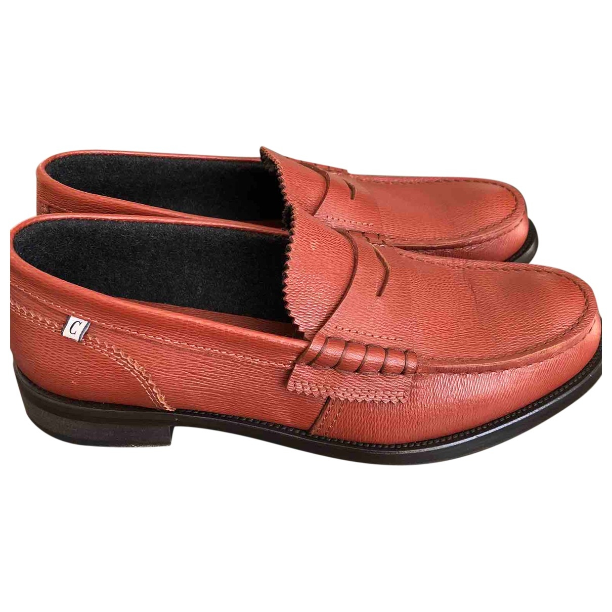 Non Signé / Unsigned \N Brown Leather Flats for Men 45 EU