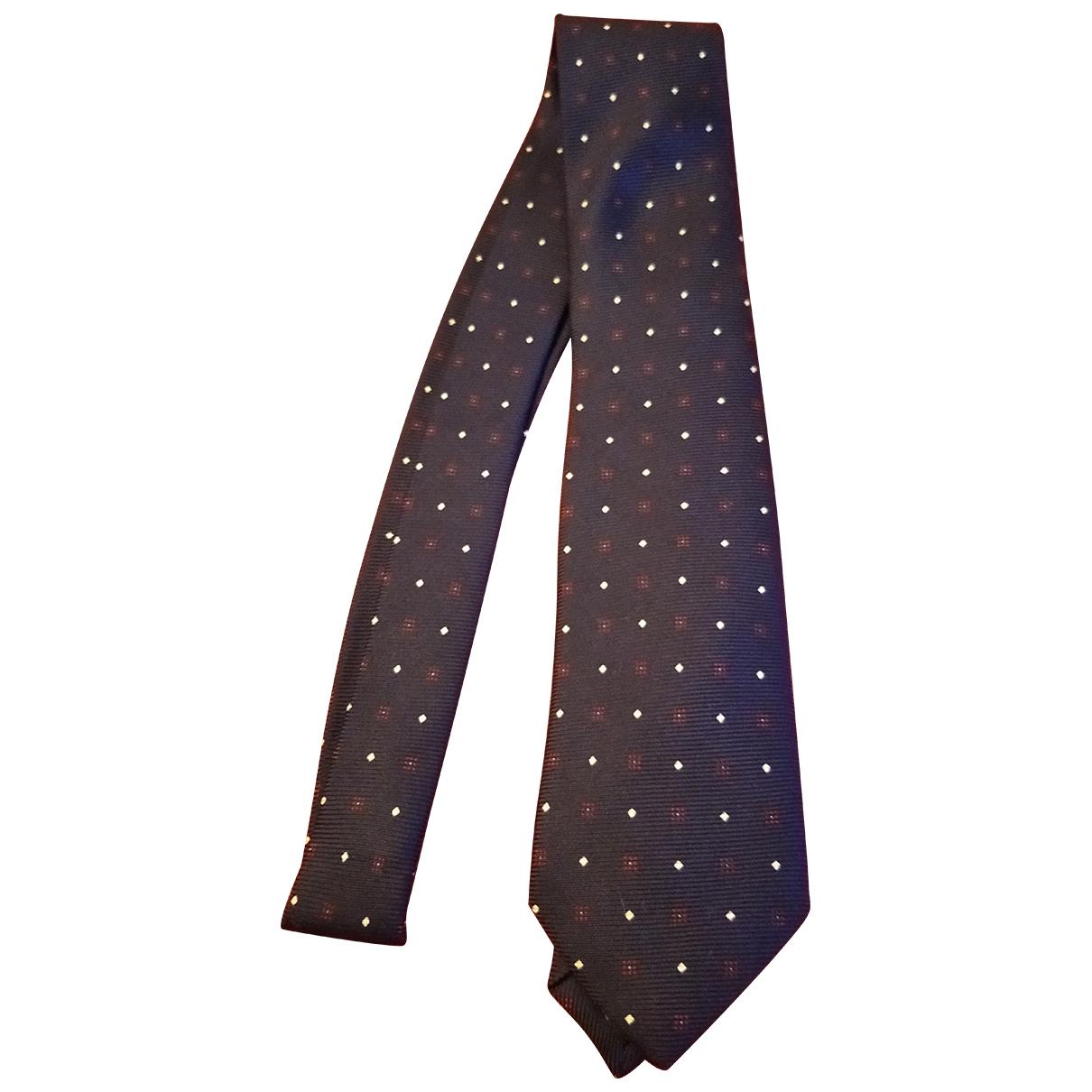 Altea \N Krawatten in  Blau Seide