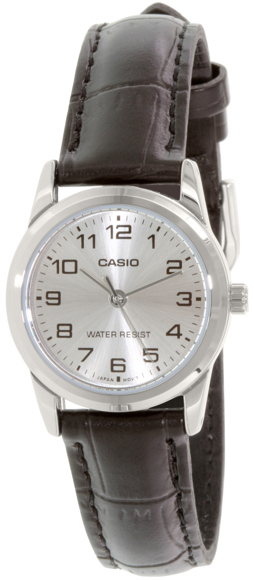 Casio Women's Enticer LTPV001L-7B Black Leather Japanese Quartz Dress Watch