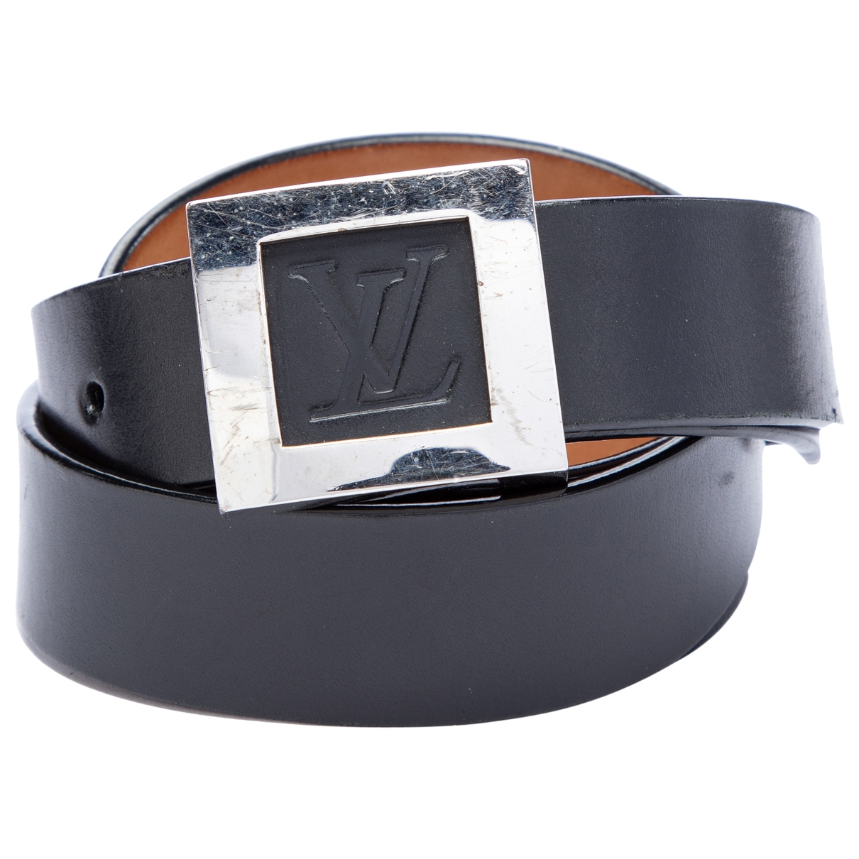 Louis Vuitton \N Black Leather belt for Men 85 cm