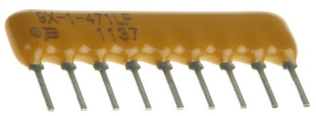 Bourns Bussed Resistor Network 470Ω ±2% 8 Resistors, 1.13W Total, SIP package 4600X Through Hole (25)