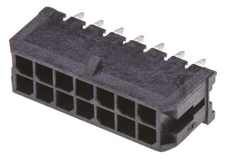Molex , Micro-Fit 3.0, 43045, 14 Way, 2 Row, Straight PCB Header (5)
