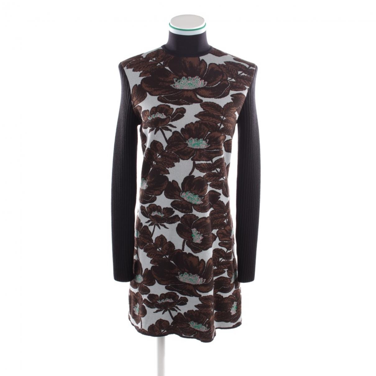 Marni - Robe   pour femme en laine - marron