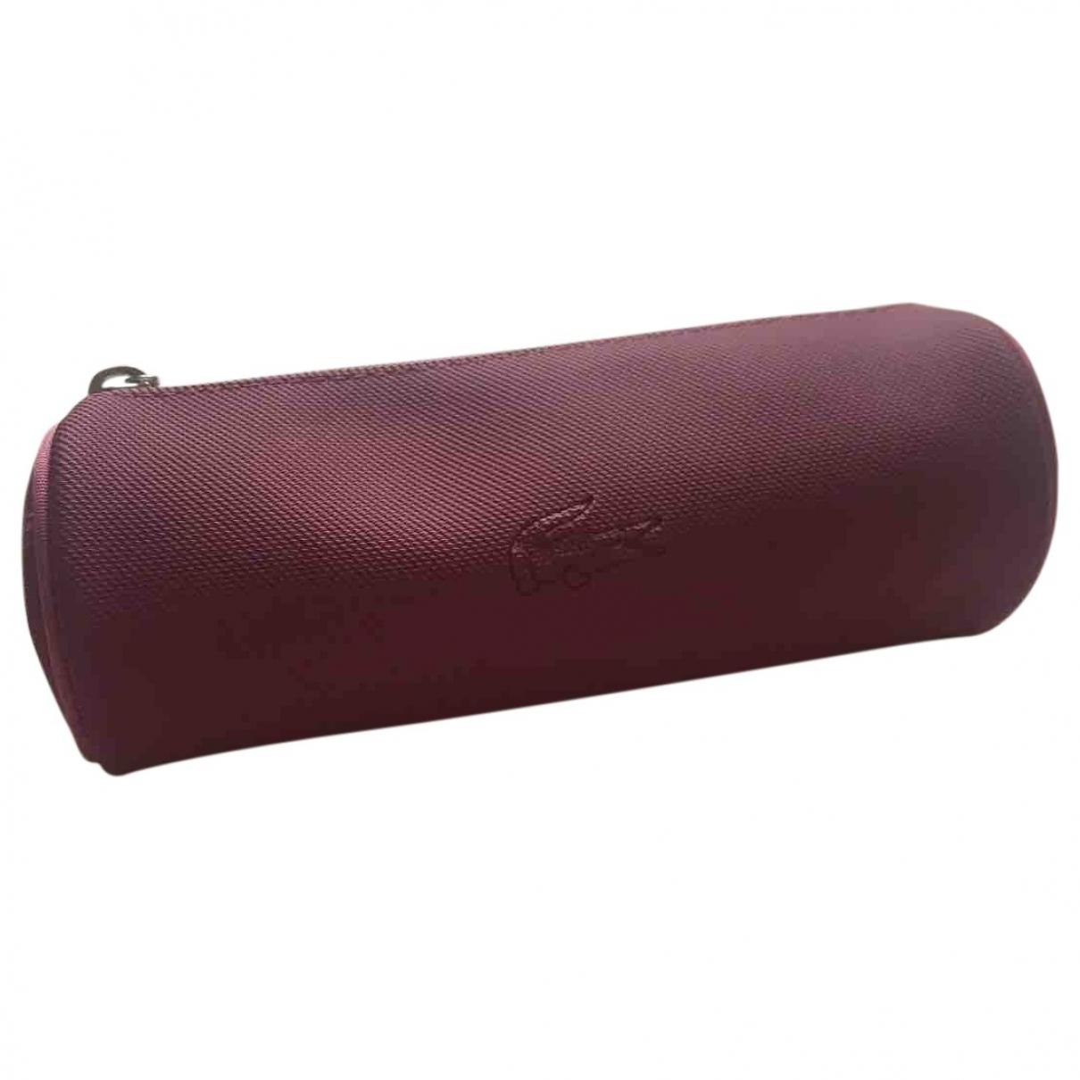 Lacoste - Petite maroquinerie   pour femme en toile - violet