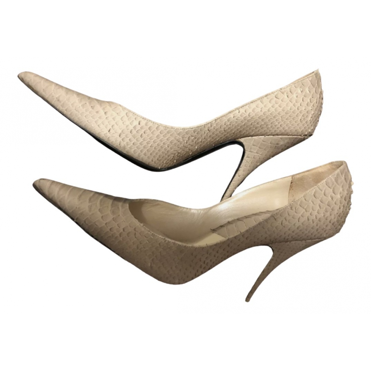Christian Dior \N Beige Python Heels for Women 39.5 IT
