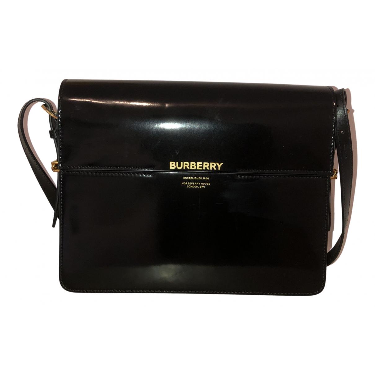Burberry \N Handtasche in  Schwarz Lackleder