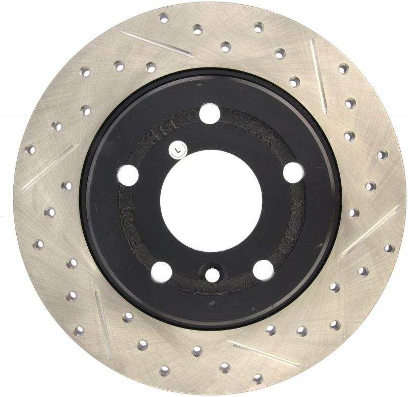 StopTech 127.22004L Sport Drilled/Slotted Brake Rotor; Rear Left Land Rover Rear Left