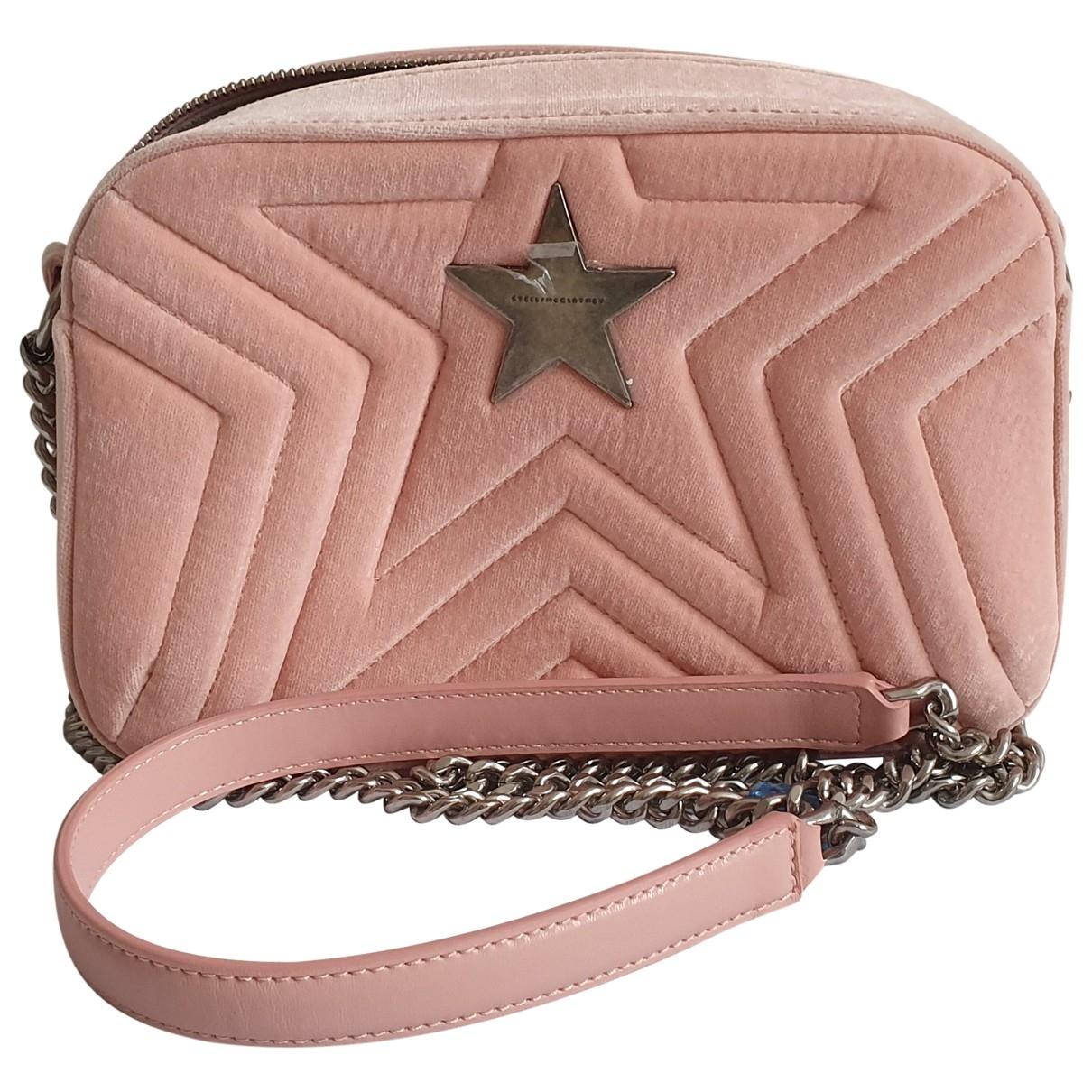 Stella Mccartney Stella Star Pink Velvet handbag for Women \N