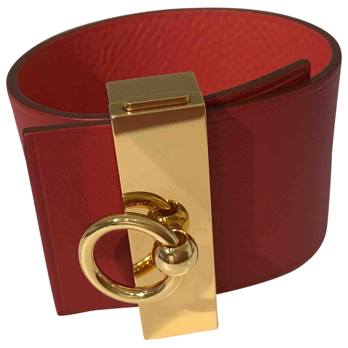 Hermès \N Red Leather bracelet for Women \N