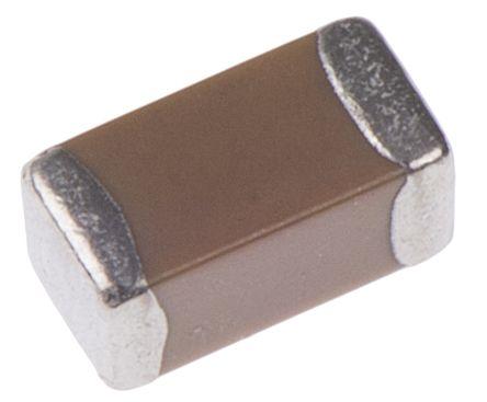 KEMET 1206 (3216M) 1μF Multilayer Ceramic Capacitor MLCC 25V dc ±10% SMD C1206C105K3RACTU (2500)