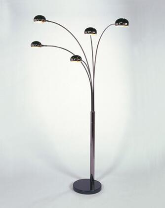 4035 Mushroom 5 Light Arc in Black