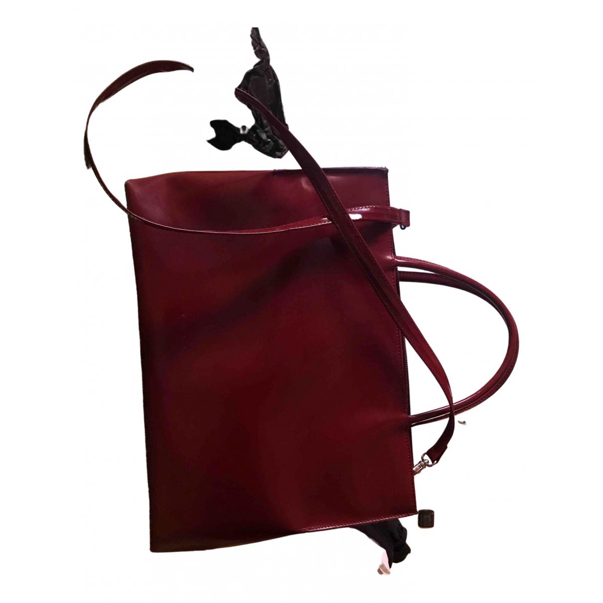 Coccinelle - Sac a main   pour femme en cuir verni - rouge