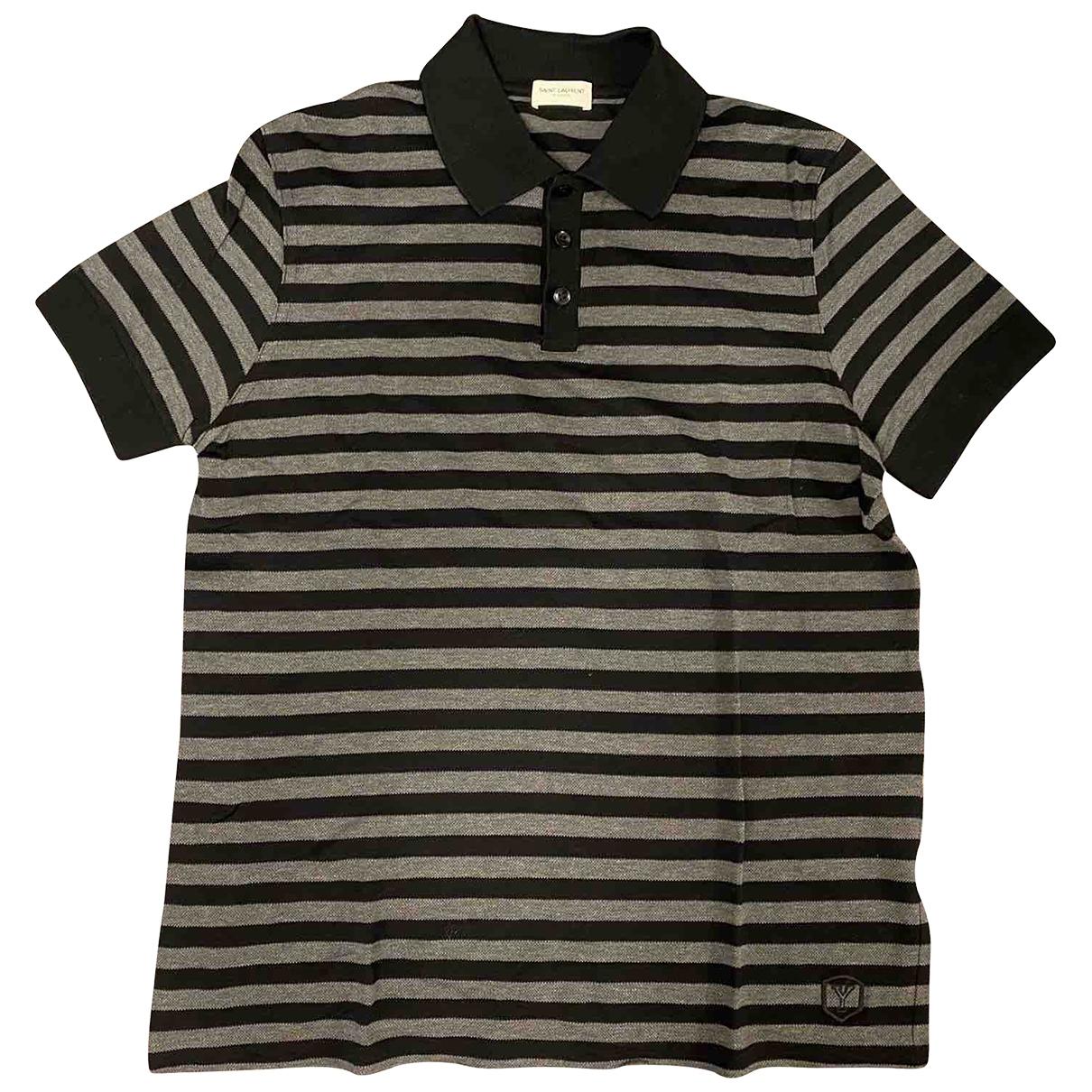 Saint Laurent \N Black Cotton Polo shirts for Men S International