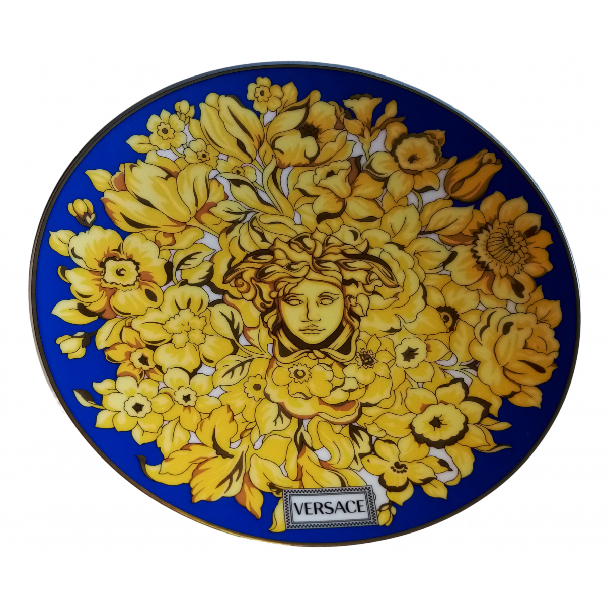 Versace \N Tischkultur in  Blau Keramik