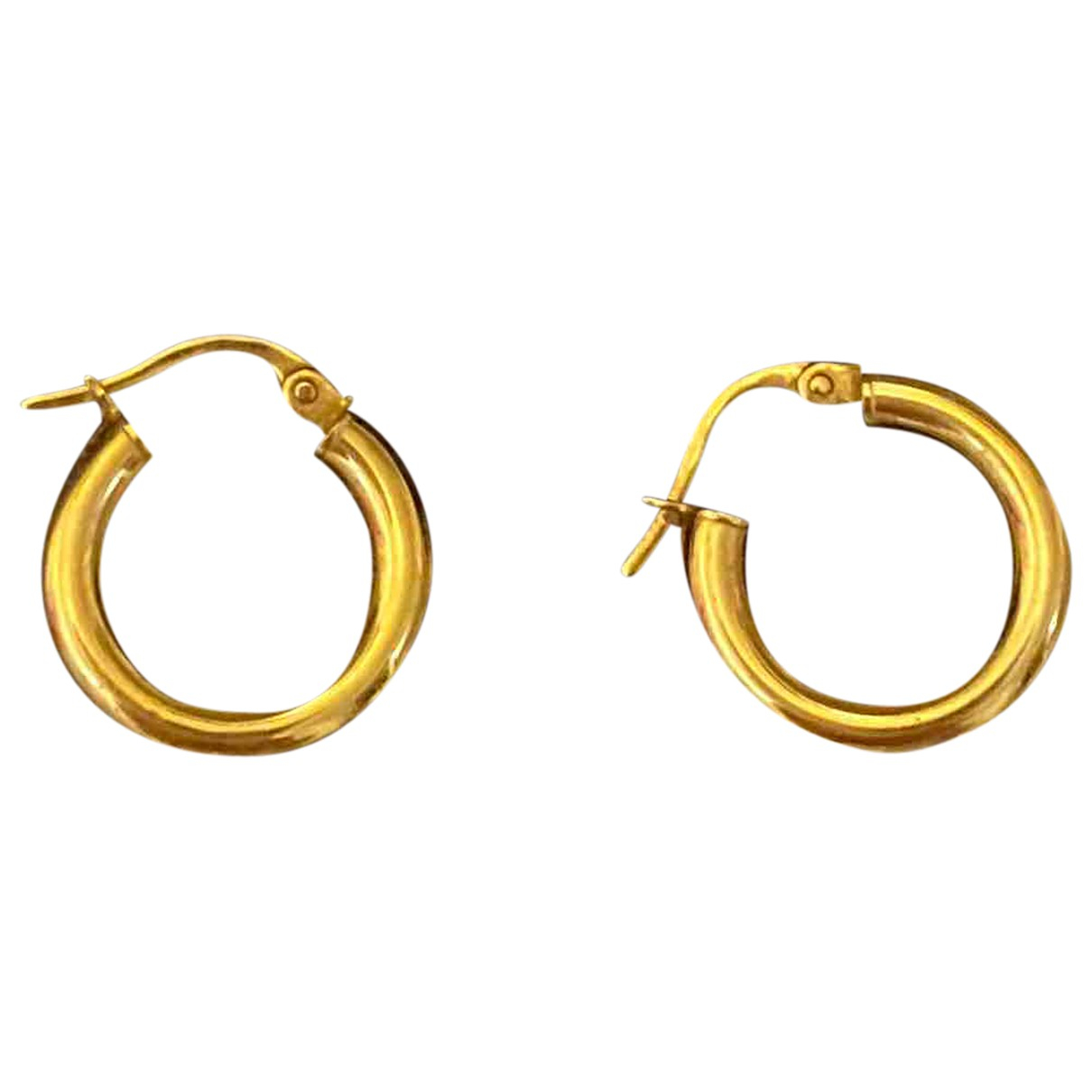 Non Signe / Unsigned Creoles OhrRing in  Gold Gelbgold