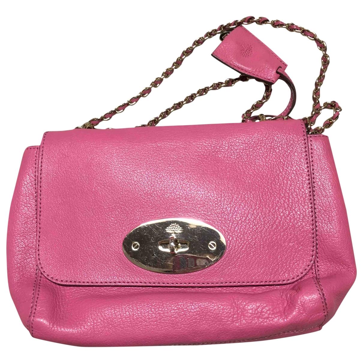 Mulberry Lily Handtasche in  Rosa Leder