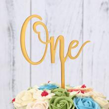 1pc Letter One Cake Topper
