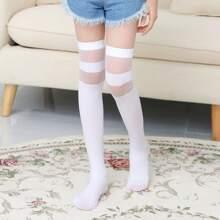 Maedchen Socken mit Streifen