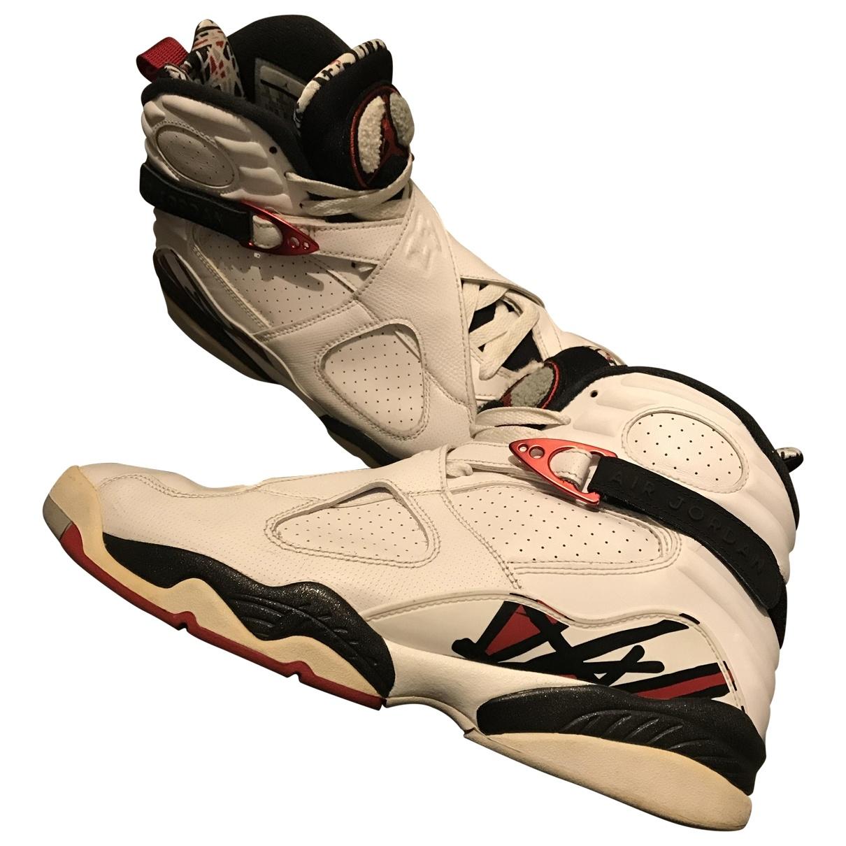 Jordan Air Jordan 8 White Leather Trainers for Men 45 EU