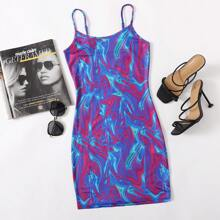 Slip Kleid mit Batik