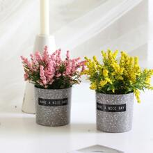 1pc Artificial Flower With Pot
